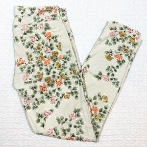 Anthro Citizens of Humanity Floral Skinny Jeans